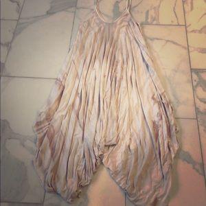 Jumpsuit/cover up. Tan tye dye by Fabrik. OS